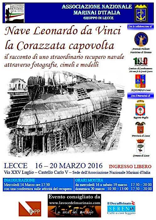 16-20.3.2016 a Lecce la corazzata capovolta - www.lavocedelmarinaio.com