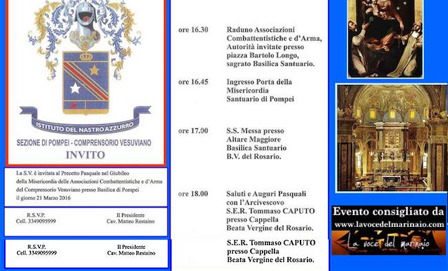 21.3.2016 a Pompei con l'istituto nastro azzurro - www.lavocedelmarinaio.com