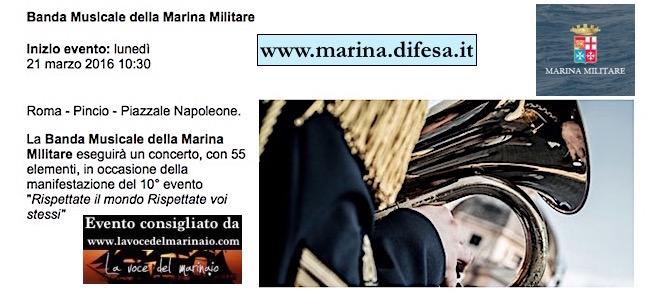 21.3.2016 a Roma esibizione della banda della Marina - www.lavocedelmarinaio.com