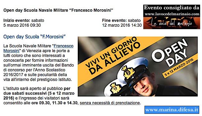 5 e 12 marzo 2016 Morosini Open day - www.lavocedelmarinaio.com