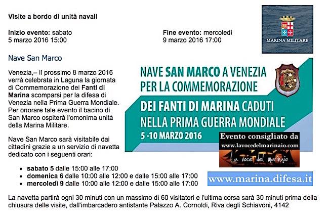 9.3.2016 a Venezia visita nave San Marco - www.lavocedelmarinaio.com