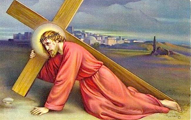 Gesù porta la Croce - www.lavocedelmarinaio.com