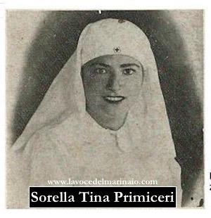 Sorella Tina Primiceri in una foto d'epoca - www.lavocedelmarinaio.com