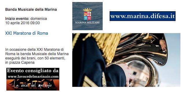 10.4.2016 a Roma esibizione Banda Marina - www.lavocedelmarinaio.com