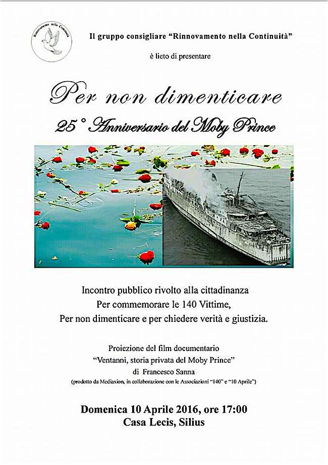 10.4.2016 a casa Lecis, Silius - n ricordo vittime del Moby Prince www.lavocedelmarinaio.com