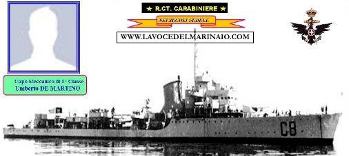 11.4.1890 capo meccanico di 1^ cl. Umberto De Martino - www.lavocedelmarinaio.com