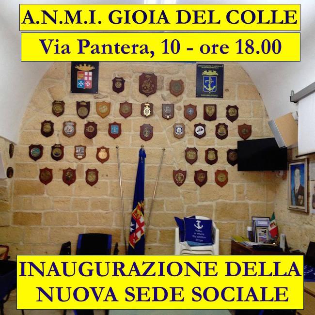 16.4.2016 a Gioia del Colle inaugurazione nuova sede associazione marinai d'Italia - www.lavocedelmarinaio.com