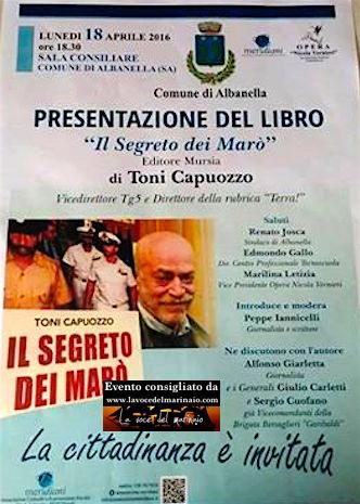 18.4.2016 ad Albanella (SA) presentazione libro il segreto dei Marò di Toni Capuozzo - www.lavocedelmarinaio.com
