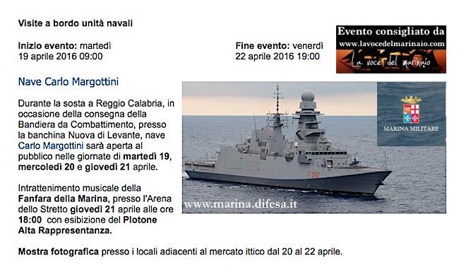19-22.4.2016 a Reggio Calabria visita a bordo nave Maergottini - www.lavocedelmarinaio.com