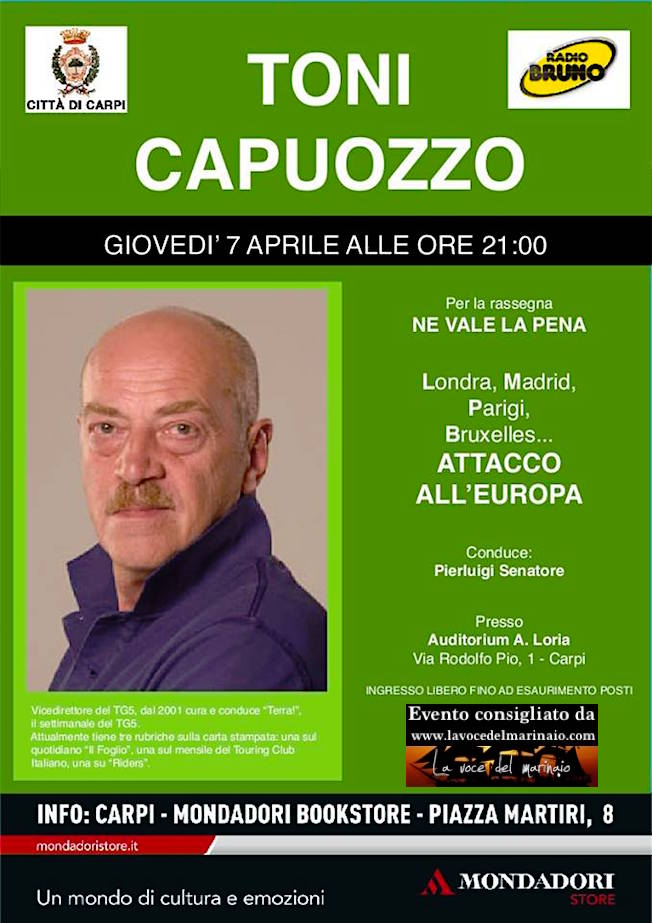 7.4.2016 a Carpi Toni Capuozzo - www.lavocedelmarinaio.com