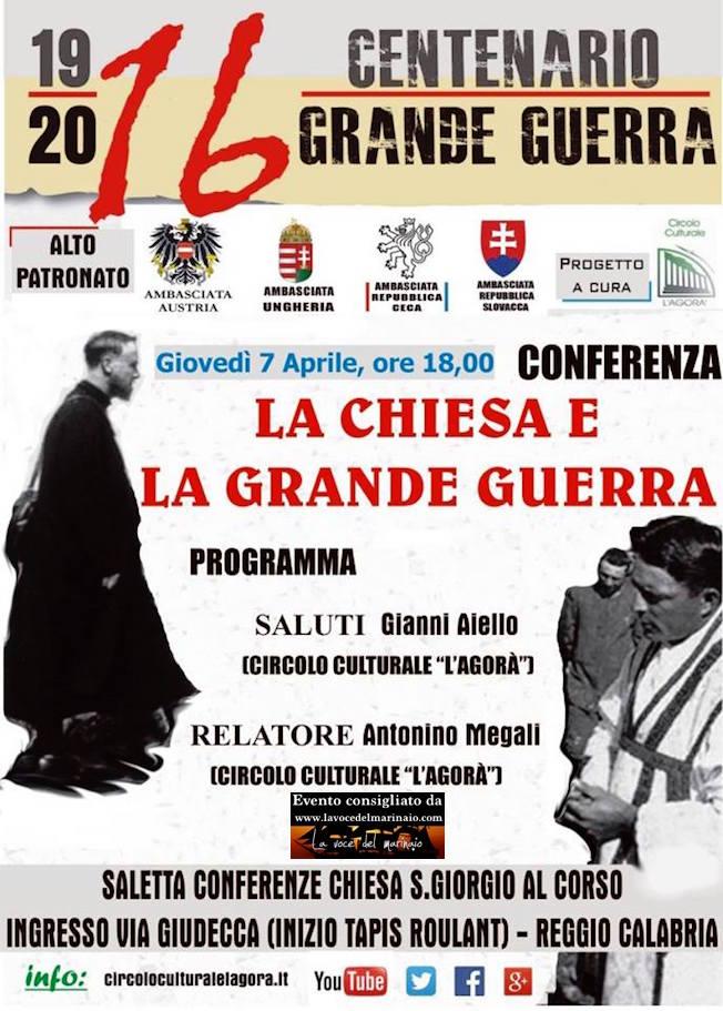 7.4.2016 a Reggio Calabria conferenza su- La Chiesa e la grande Guerra - www.lavocedelmarinaio.com