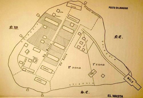 La mappa dell'isolotto di El Wasta.