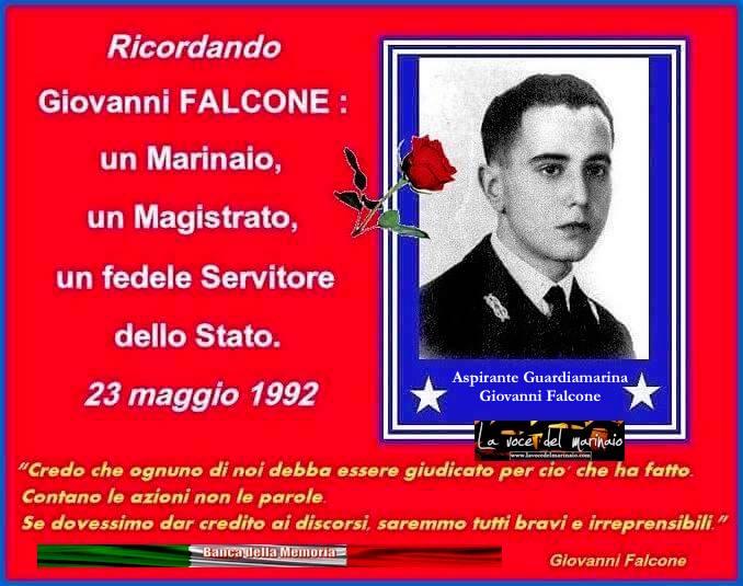 23.5.1992 Giovanni Falcone - www.lavocedelmarinaio.com
