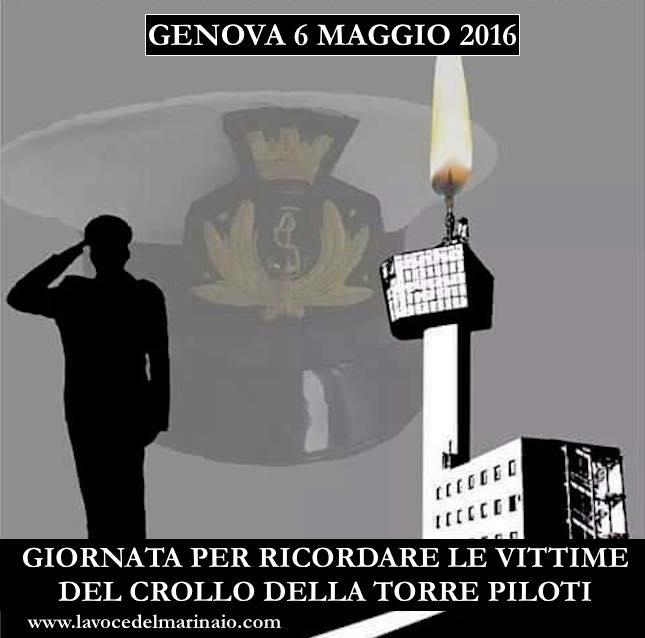 3° anniversario vittime crollo torre VTS a Genova www.lavocedelmarinaio.com