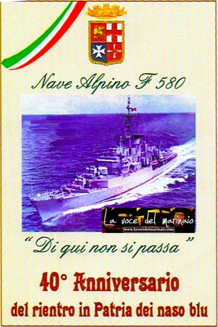 40 anniversario nave alpino naso blu - www.lavocedelmarinaio.com