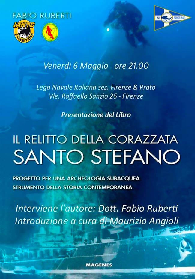 6.5.2016 a Firenze il relitto della corazzata Santo Stefano - www.lavocedelmarinaio.com