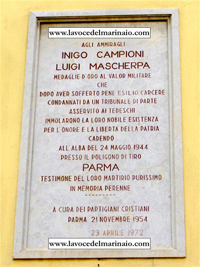 Inigo Campioni e Luigi Mascherpa - città di Parma www.lavocedelmarinaio.com