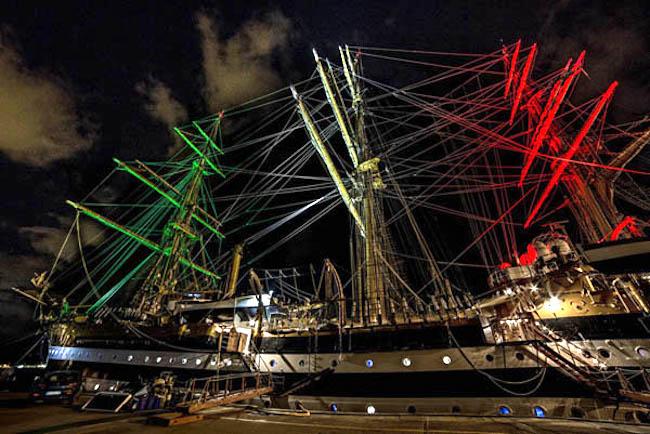 Nave Vespucci riprende il mare - www.lavocedelmarinaio.com