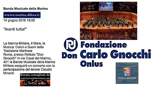 14.6.2016 a Roma esibizione della Banda della Marina - www.lavocedelmarinaio.com