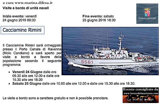 24-25.6.2016 a Ravenna visite al publico a bordo di nave Rimini - www.lavocedelmarinaio.com