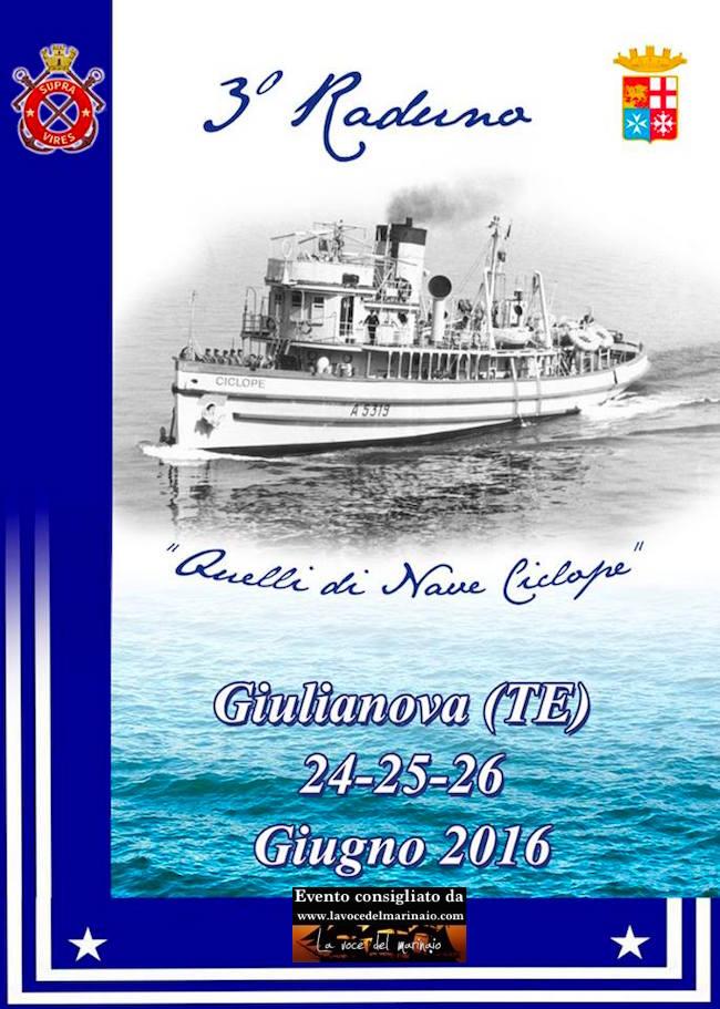 24-26.6.2016 a Giulianova 3° raduno equipaggi nave Ciclope - www.lavocedelmarinaio.com