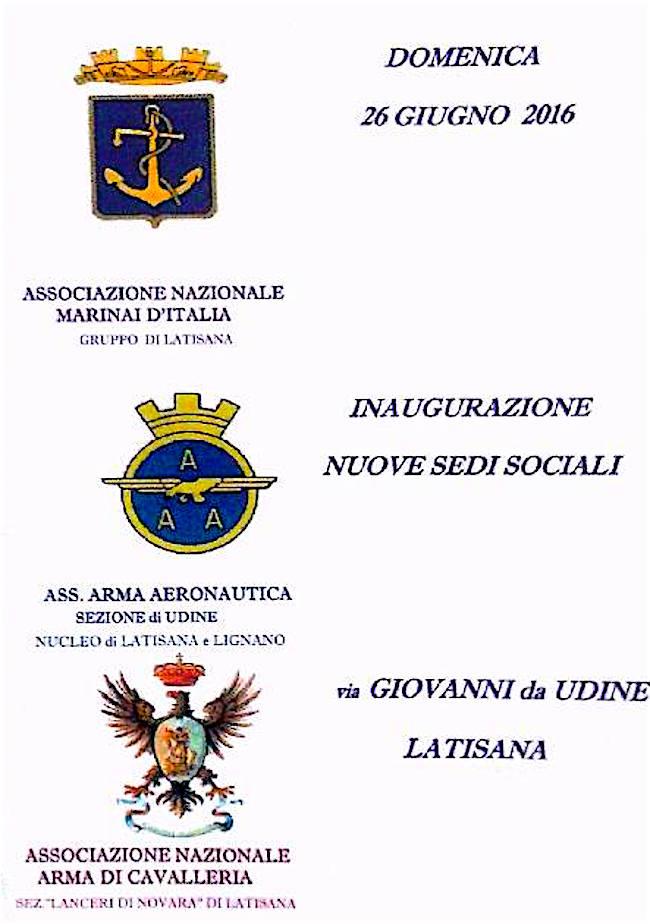 26.6.2016 a Latisana inaugurazione nuova sede sociale ANMI - www.lavocedelmarinaio.com