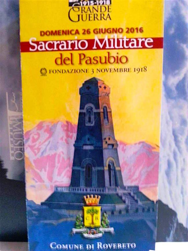 26.6.2016 al Sacrario Militare di Rovereto per celebrare i Caduti della Grande Guerra - www.lavocedelmarinaio.com