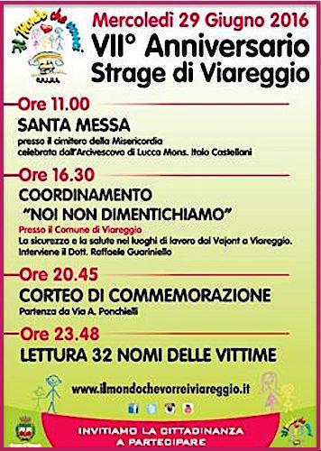 29.6.2016 - strage di Viareggio - www.lavocedelmarinaio.com