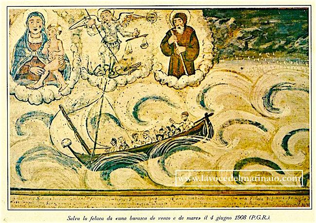 4.6.1908 4.6.1908, salva la feluca da una burasca de vento e de mare P.G.R. - www.lavocedelmarinaio.com