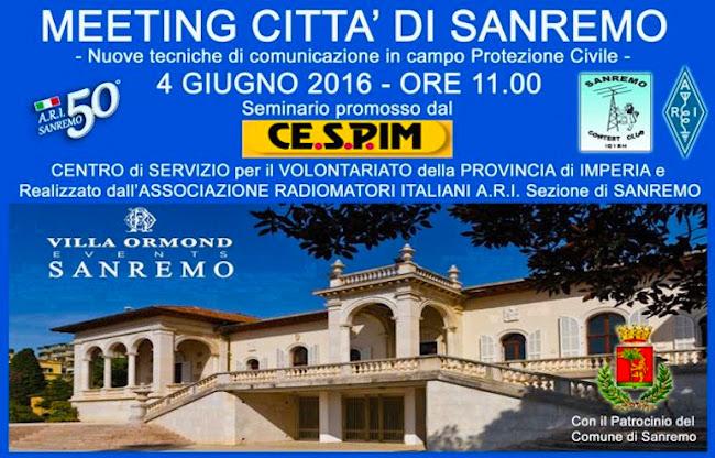 4.6.2016 a Sanremo Meeting comunicazioni - www.lavocedelmarinaio.com
