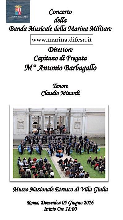 5.6.2016 a Roma esibizione banda della marina - www.lavocedelmarinaio.com