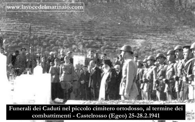 i funerali nel cimitero ortodosso, al termine dei combattimenti - Castelrosso (Egeo) 25-28.2.1941 - www.lavocedelmarinio.com