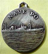 medaglietta di nave Po - www.lavocedelmarinaio.com