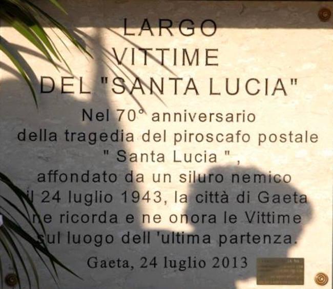 Largo vittime del Santa Lucia a Gaeta f.p.g.c. Carlo Di Nitto a www.lavocedelmarinaio.com