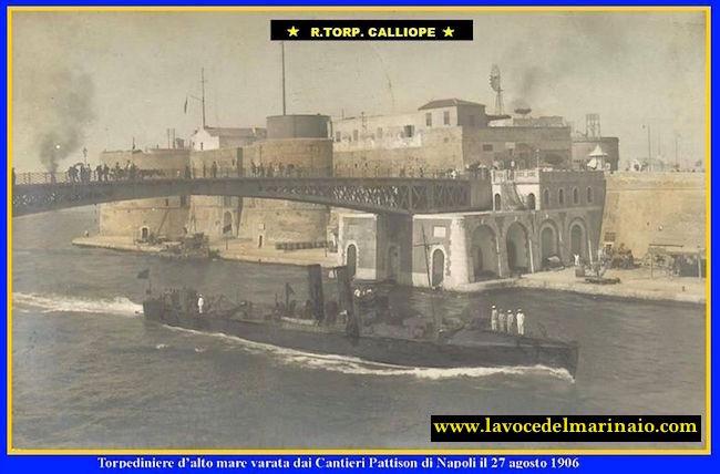 27.8.1906 regia nave Calliope - www.lavocedelmarinaio.com