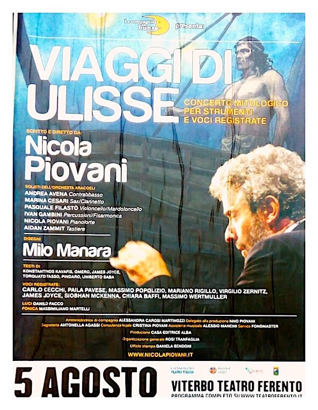 5.8.2016 a Viterbo Viaggi di Ulisse di Nicola Piovani - www.lavocedelmarinaio.com