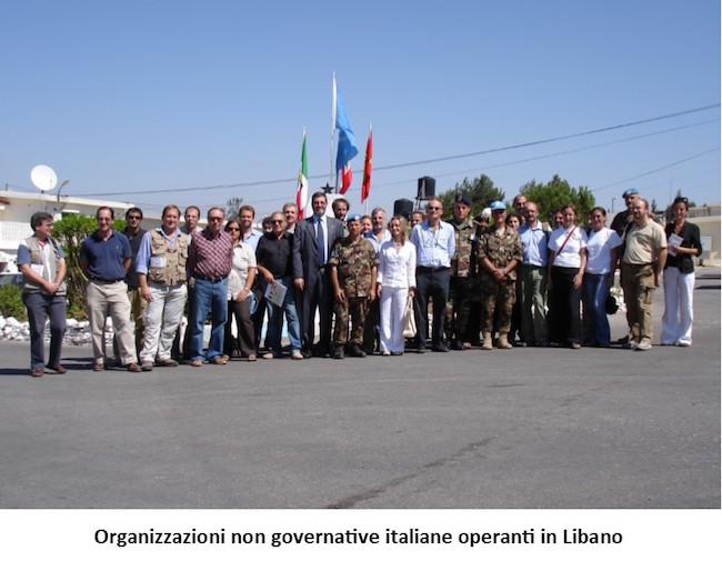6. Operazione Leonte organizzazioni non governative italiane operanti in Libano