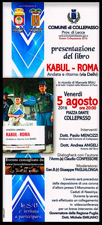 Invito serata del 5 agosto 2016 a Collepasso (LE) - www.lavocedelmarinaio.com