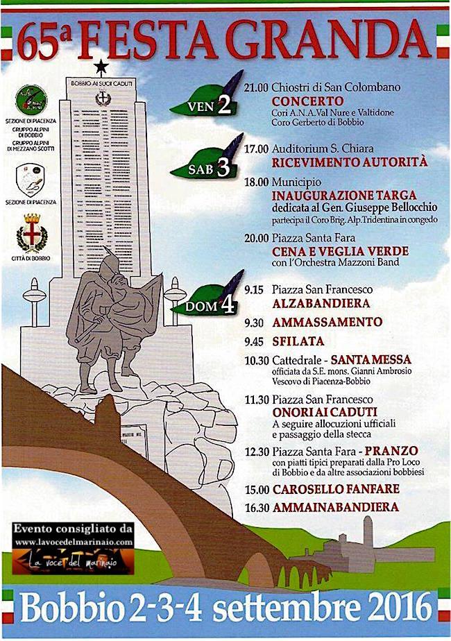 2-4.9.2016 a Bobbio festa degli alpini - www.lavocedelmarinaio.cm