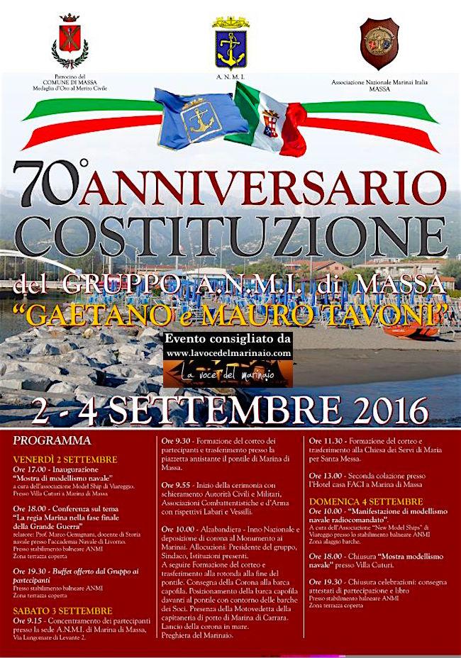 A.N.M.I. Massa 7' anniversario della costituzione del gruppo - www.lavocedelmarinaio.com
