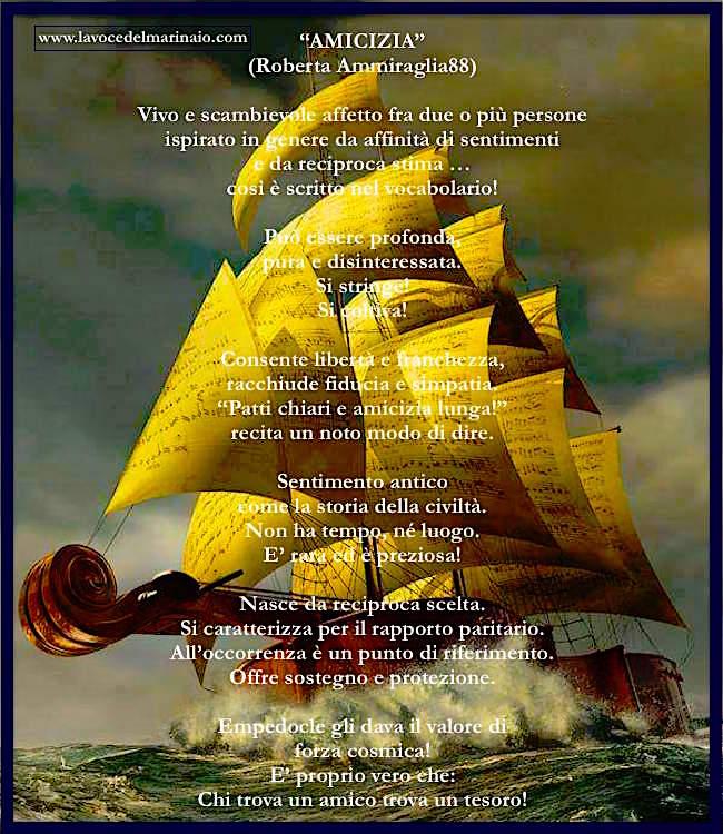 Amicizia - www.lavocedelmarinaio.com