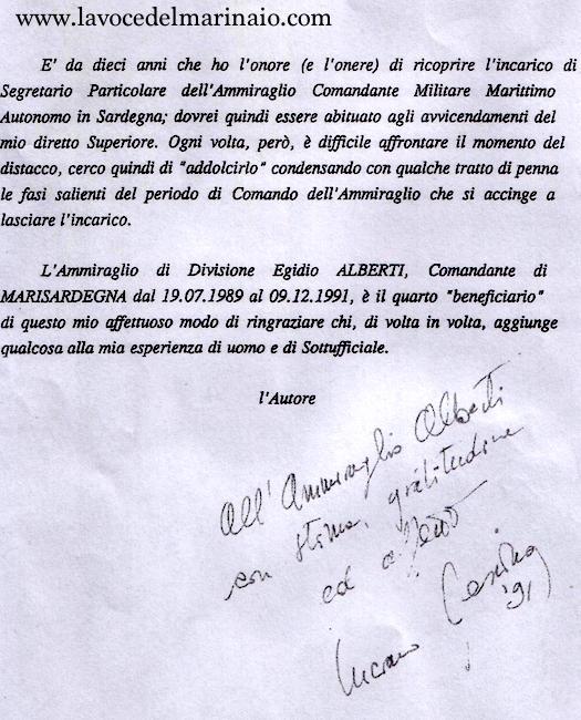testimonianza del segretario personale Luciano Messina - www.lavocedelmarinaio.com