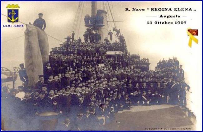 13-ottobre-1907-saluti-dalla-regia-nave-regina-elena-f-p-g-c-carlo-di-nitto-a-www-lavocedelmarinaio-com