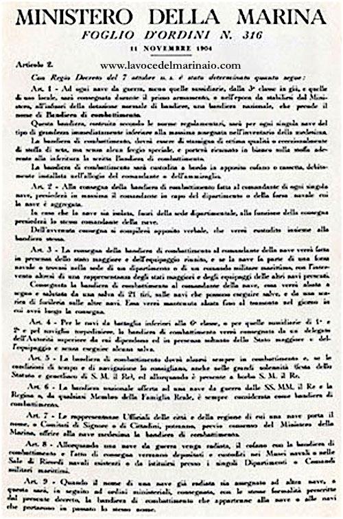11-11-1904-istituzione-della-bandiera-di-combattimento-f-o-316-del-11-11-1904-www-lavocedelmarinaio-com