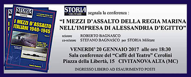 20.1.2017 a Civitanova Alta (MC) conferenza sui mezzi d'assalto della regia Marina - www.lavocedelmarinaio.com