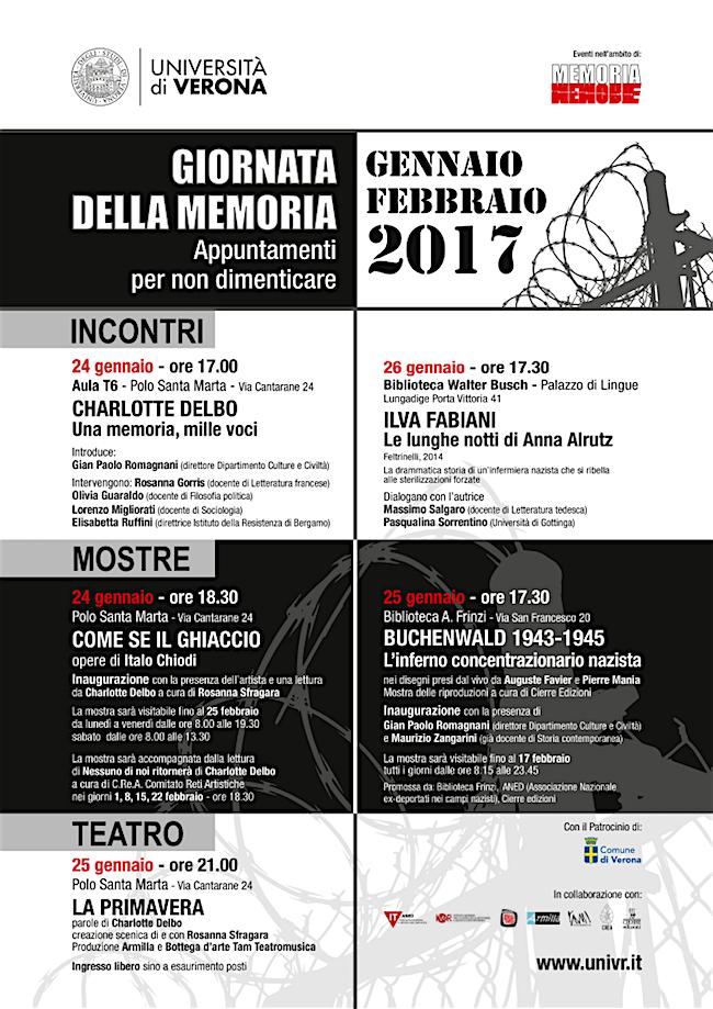 24-26.1.2017 a Verona giornate della memoria - www.lavocedelmarinaio.com