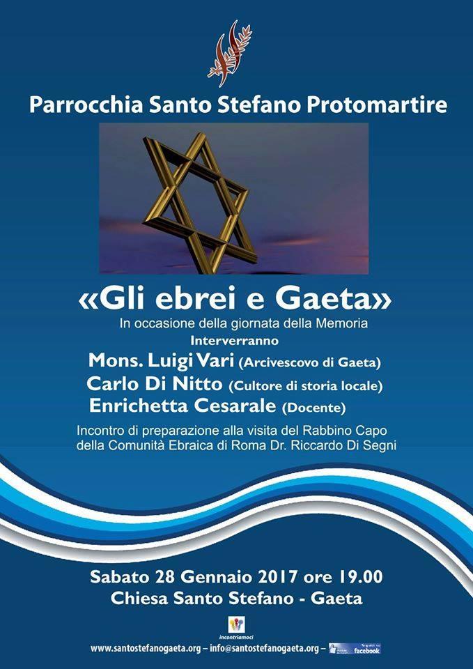 28.1.2017 a Gaeta Gli ebrei e Gaeta - www.lavocedelmarinaio.com