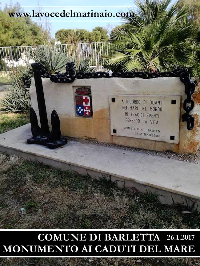Monumento ai Marinai a Barletta - www.lavocedelmarinaio.com