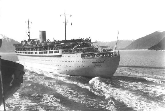 Nave Wilhelm Gustloffin navigazione - foto internet - www.lavocedelmarinaio.com