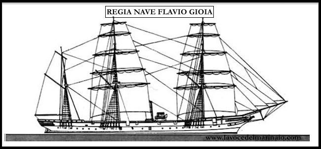 Silhouette regia nave Flavio Gioia - www.lavocedelmarinaio.com